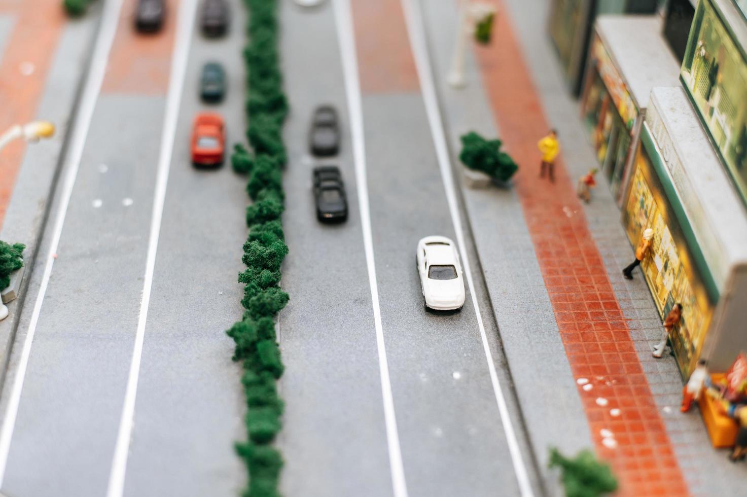 paisagem de cidade em miniatura foto