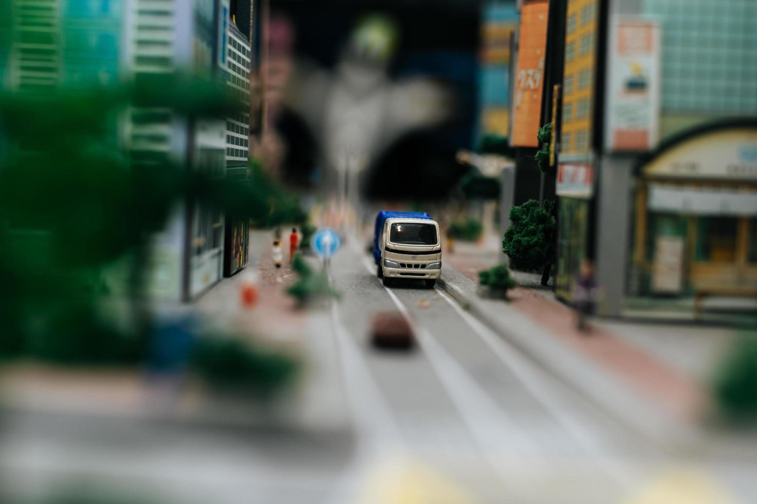 paisagem de mudança de inclinação em miniatura foto