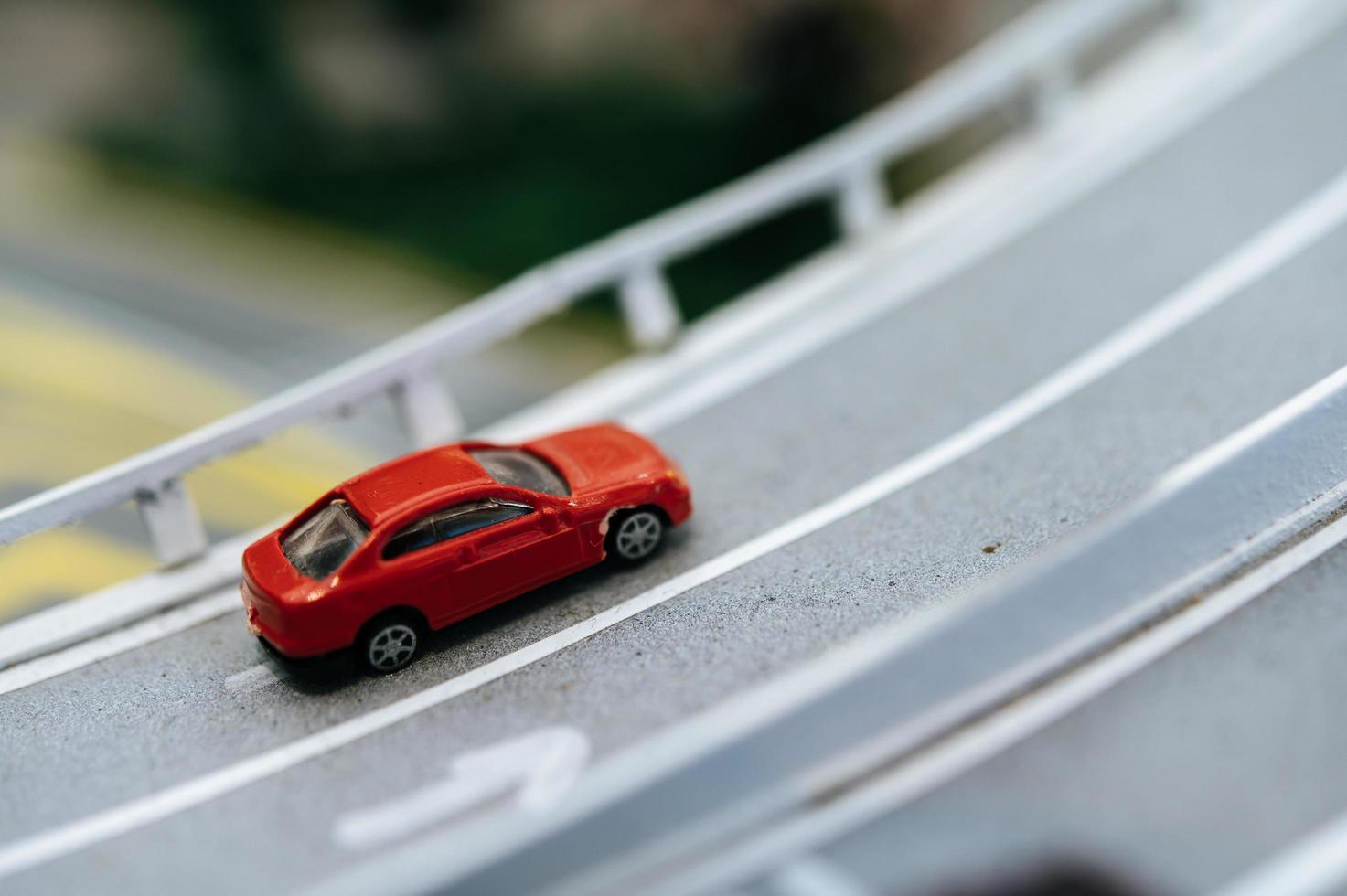 tráfego de mudança de inclinação em miniatura foto