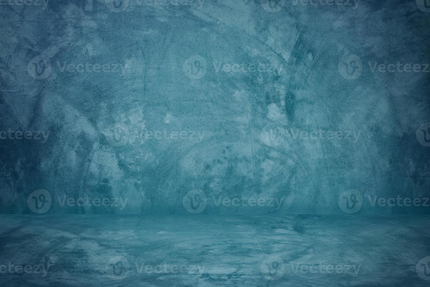 estúdio de parede de cimento azul foto