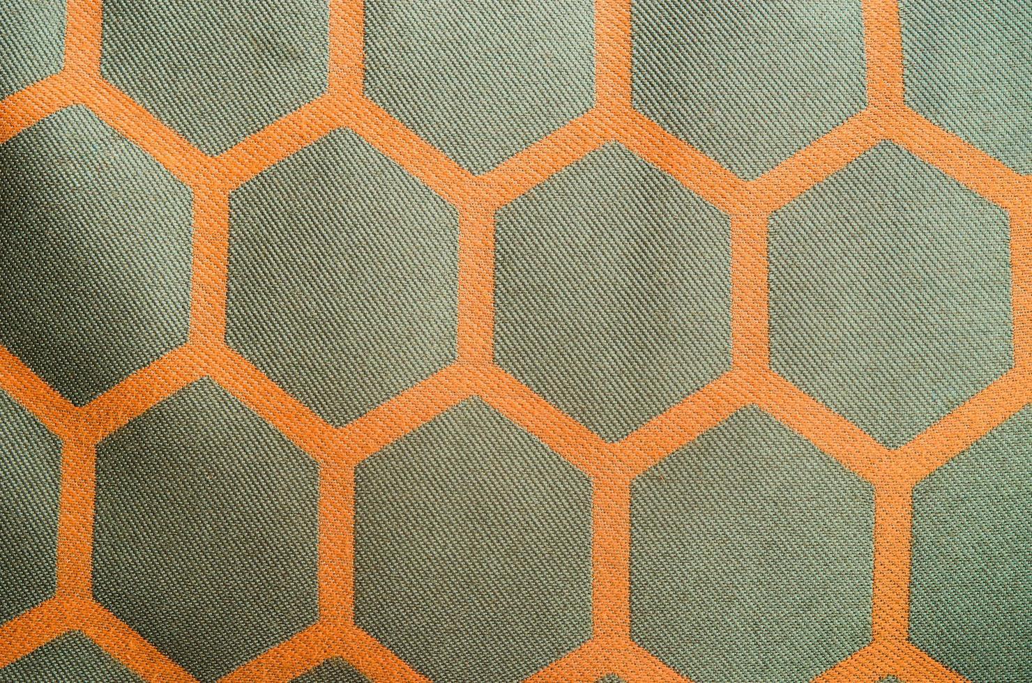 padrão de tecido hexagonal foto