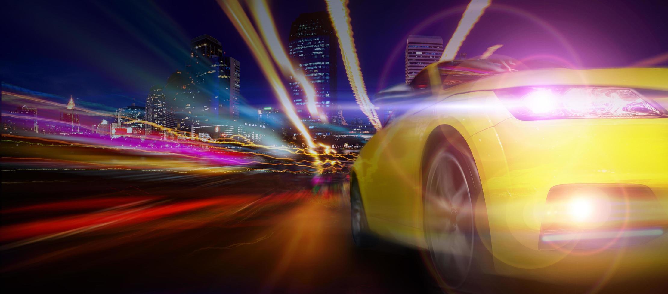 carro esporte amarelo foto