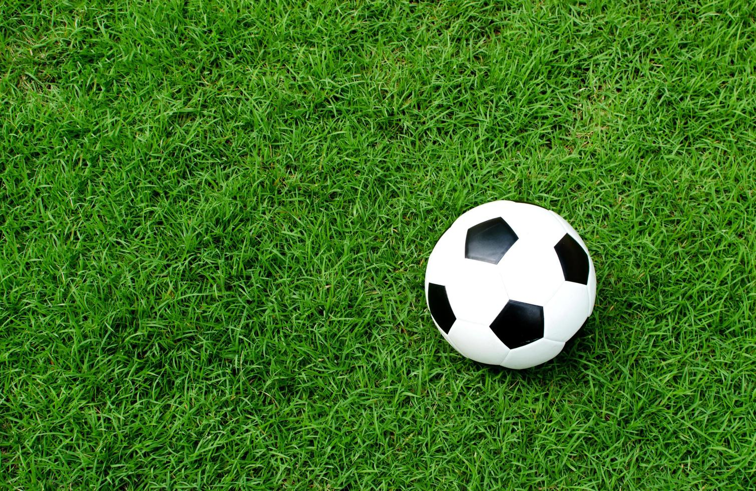 bola de futebol no gramado 1946627 Foto de stock no Vecteezy