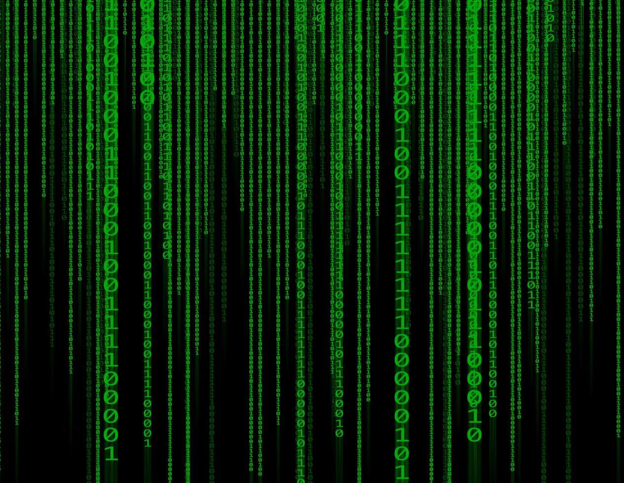 fundo binário de tecnologia verde abstrato foto