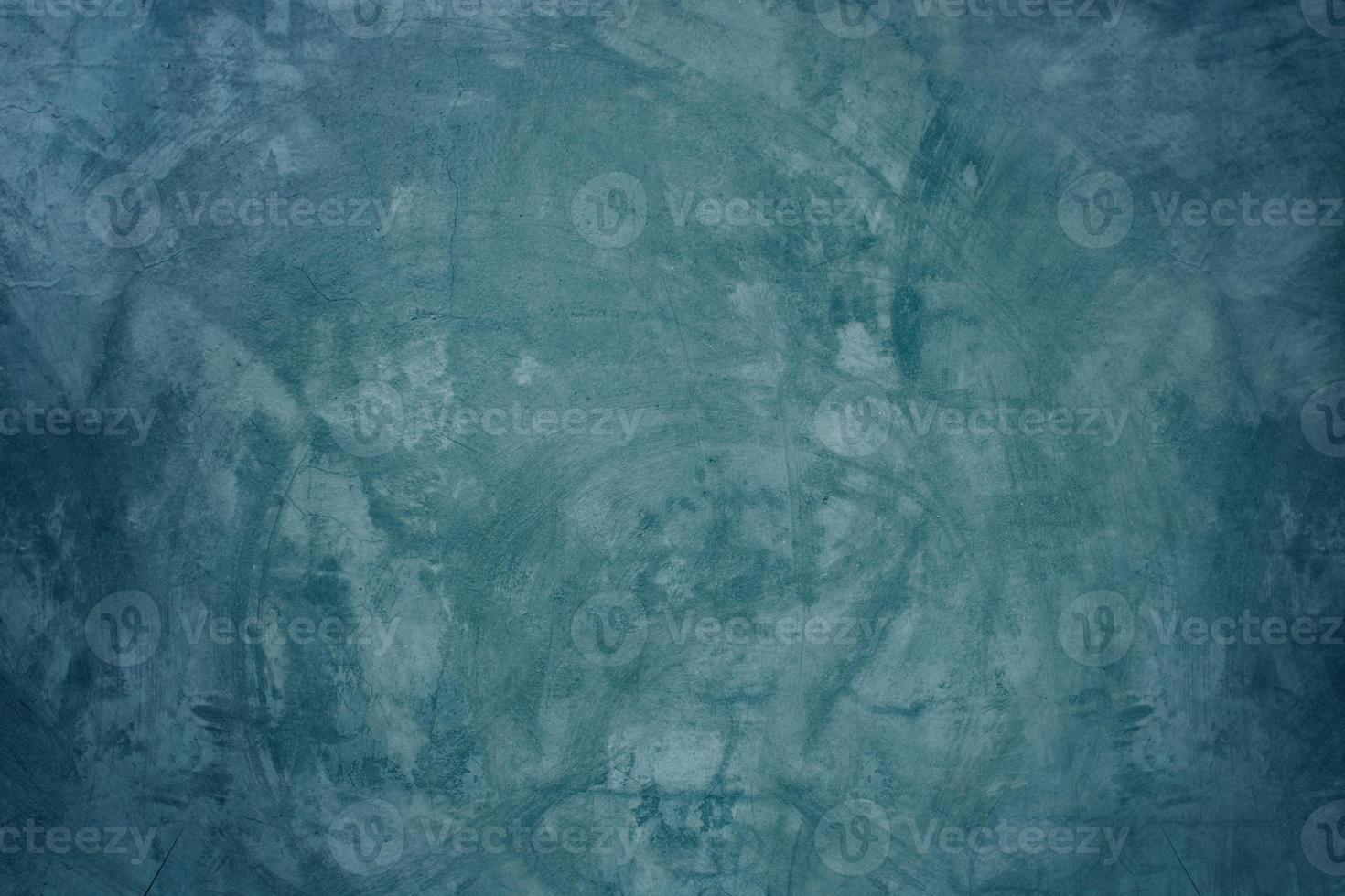 parede de cimento azul e fundo de piso em branco foto