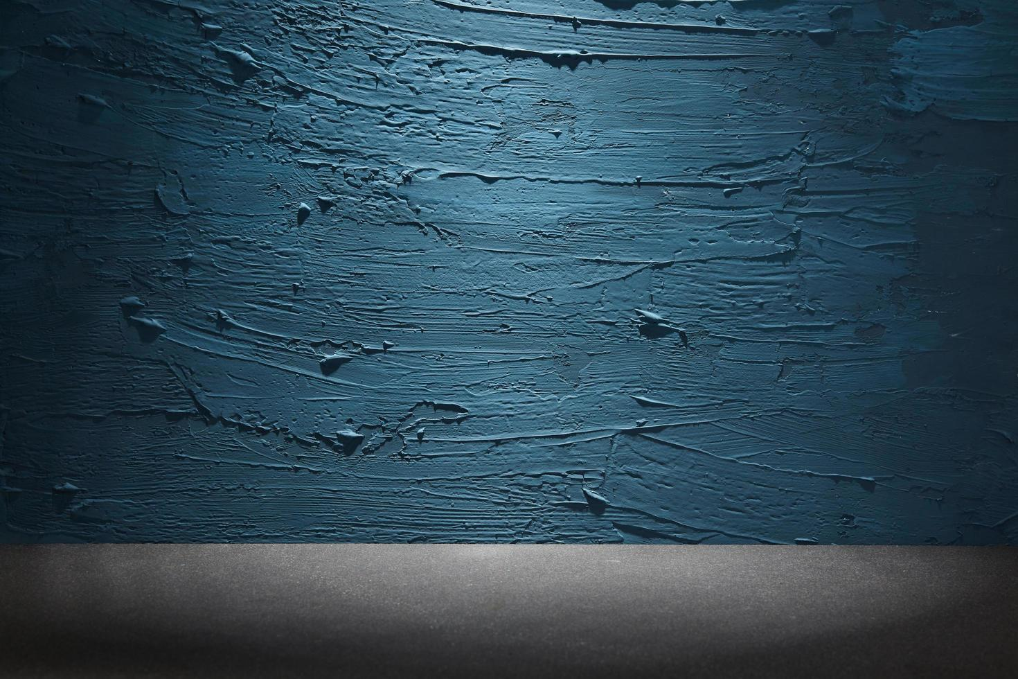 parede pintada de azul foto