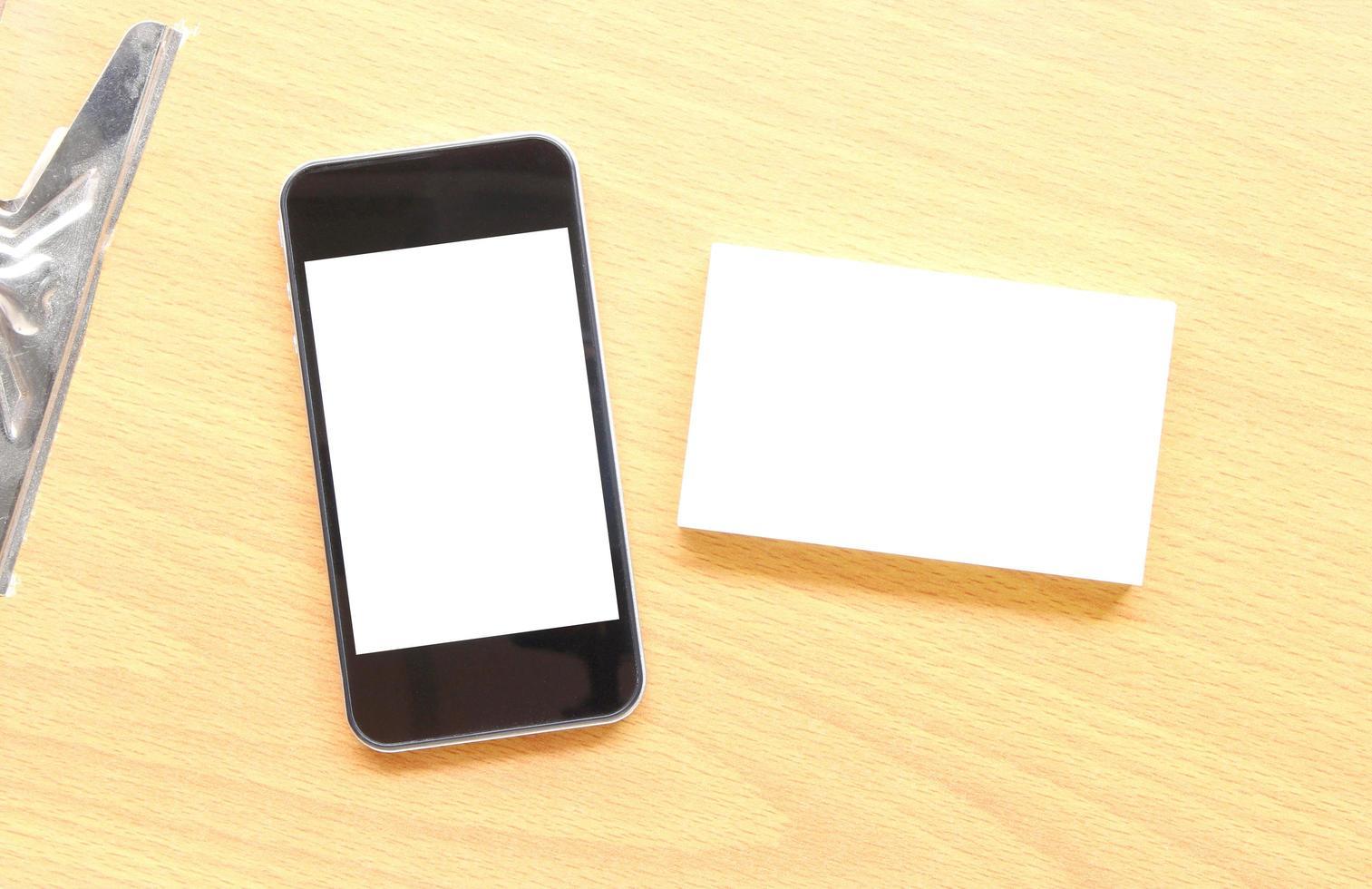 cartão de visita e modelo de telefone foto