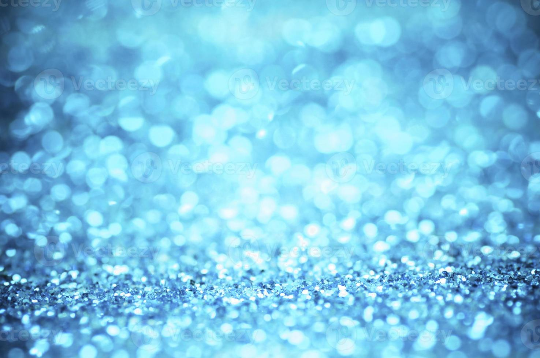 desfocagem de glitter azul foto
