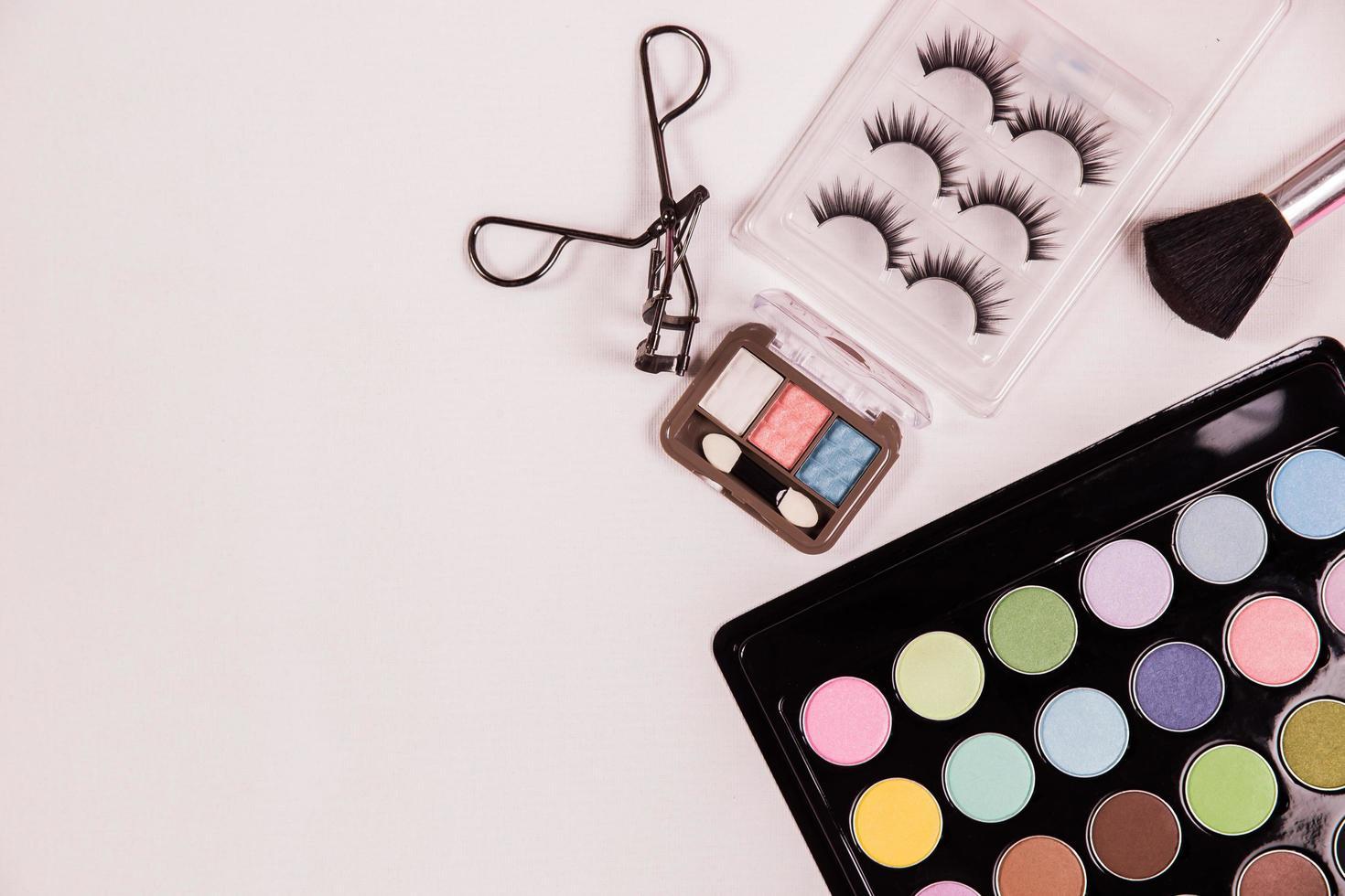 vista superior da maquiagem cosmética foto