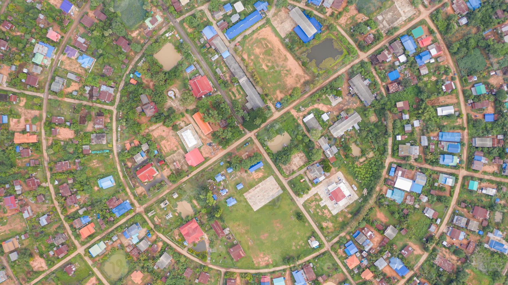vista aérea da vila circular foto