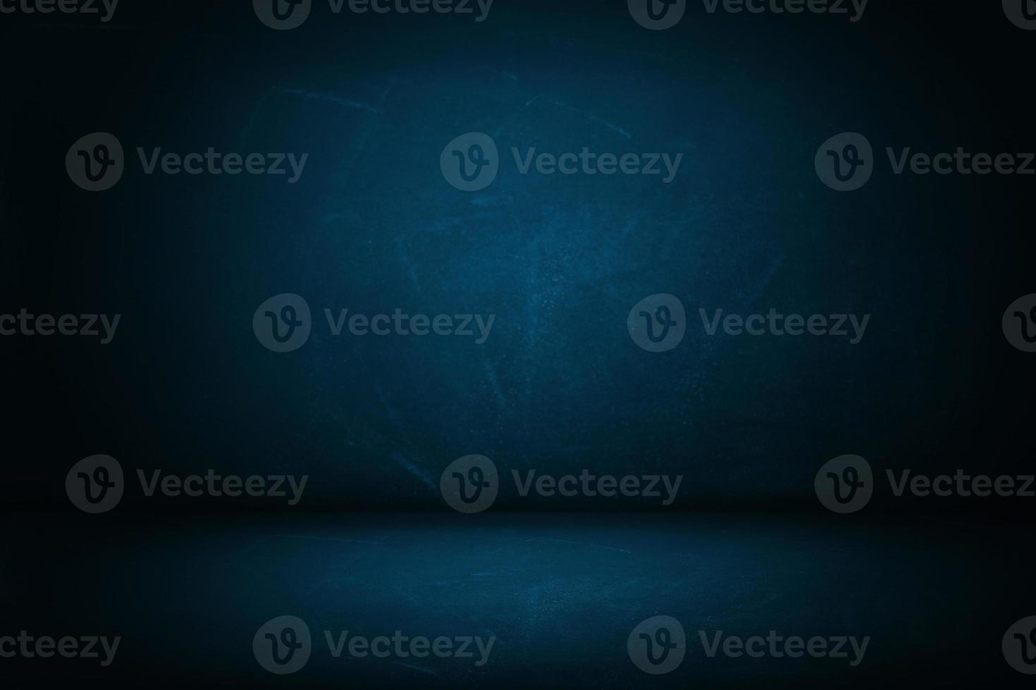 pano de fundo azul escuro da parede do estúdio foto