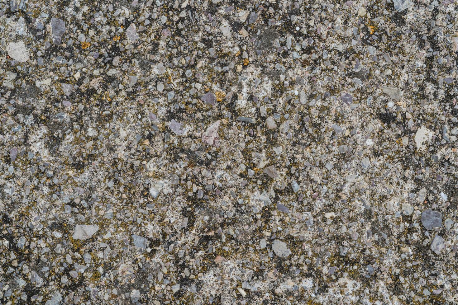 textura de cimento cinza misturado com cascalho foto