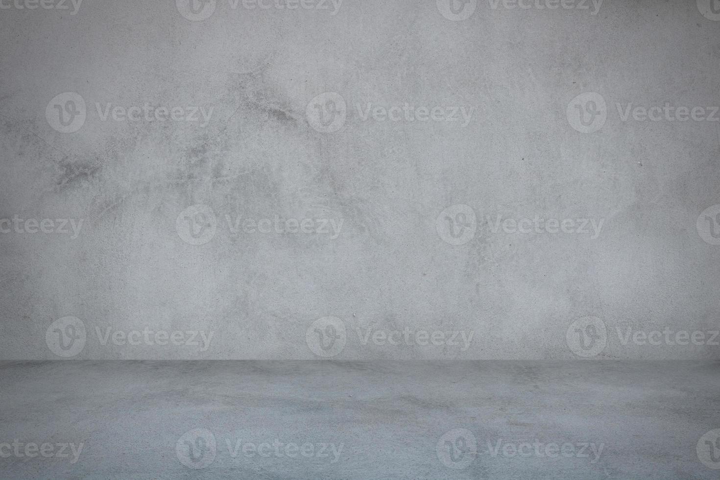 parede de cimento cinza e fundo da sala do estúdio foto