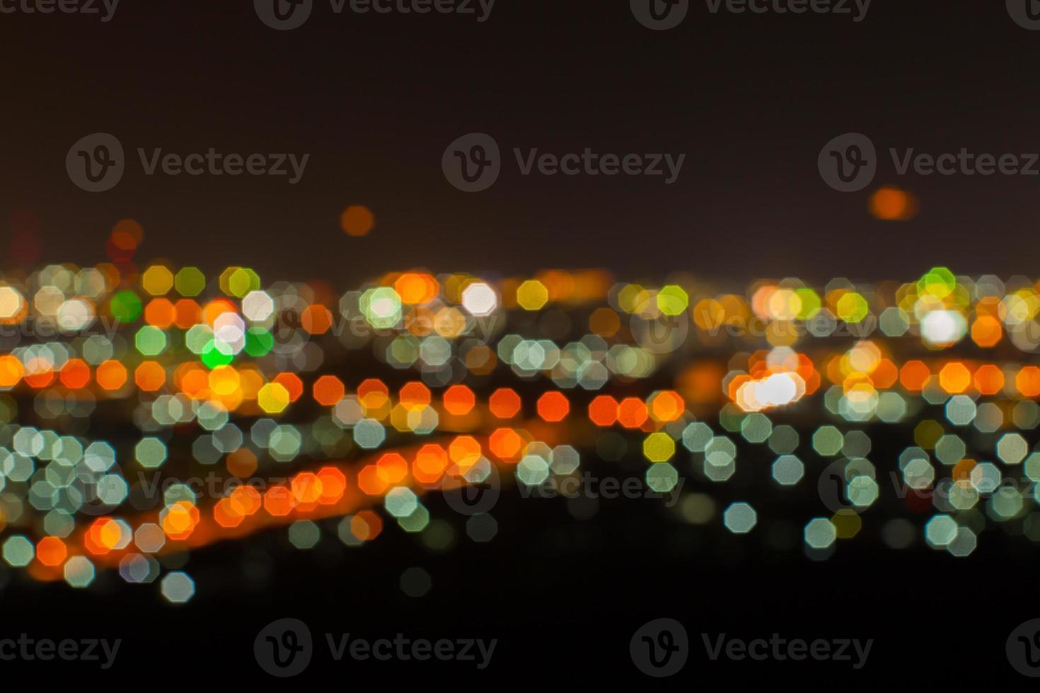 paisagem urbana noturna desfocada foto