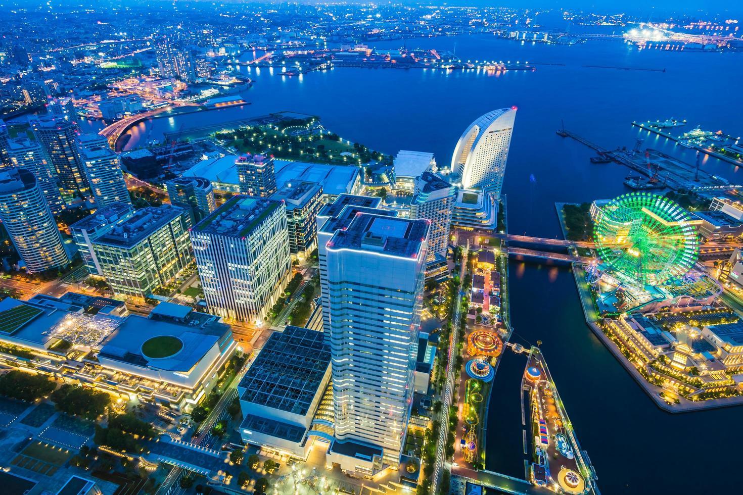 belos edifícios na cidade de Yokohama foto