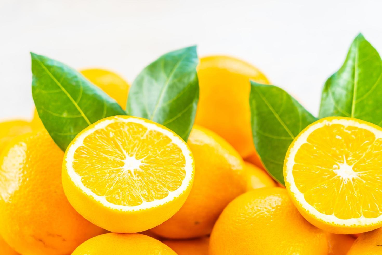 laranjas frescas, close-up foto