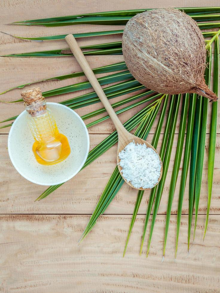 ingredientes de spa de coco foto