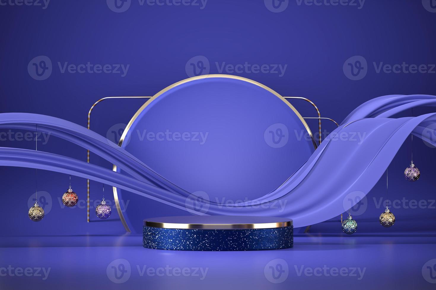 maquete do pódio do palco abstrato roxo foto
