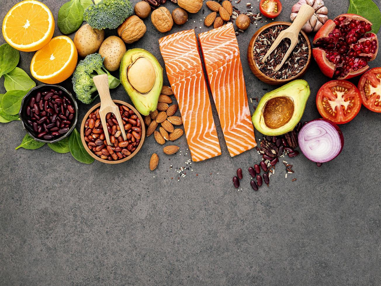 variedade de comida saudável foto