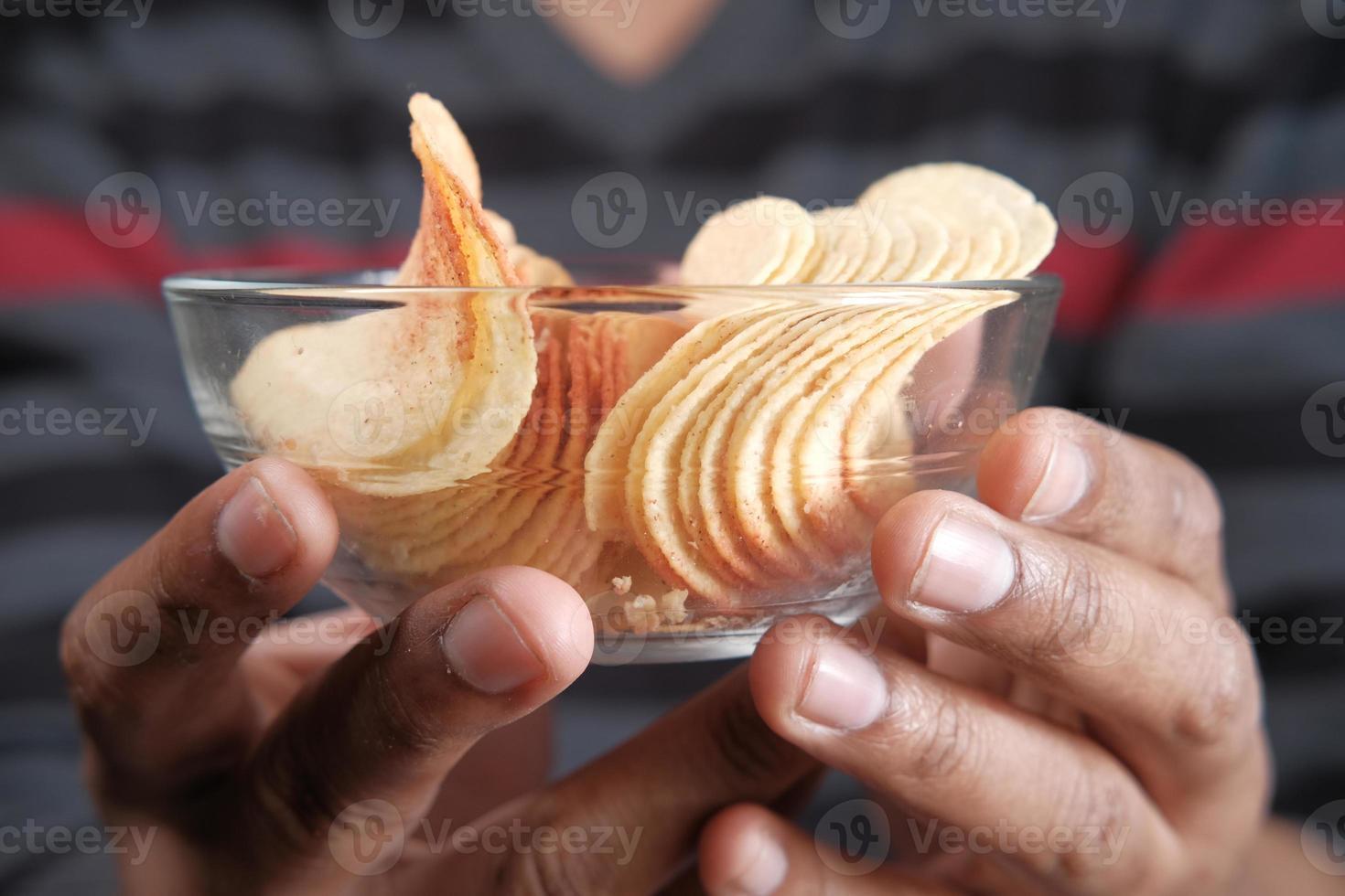 tigela de batata frita foto