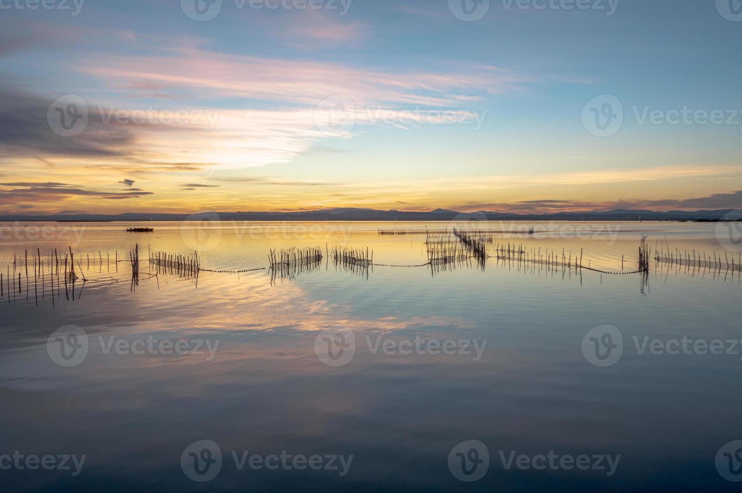 estuário de albufera em valência, espanha foto