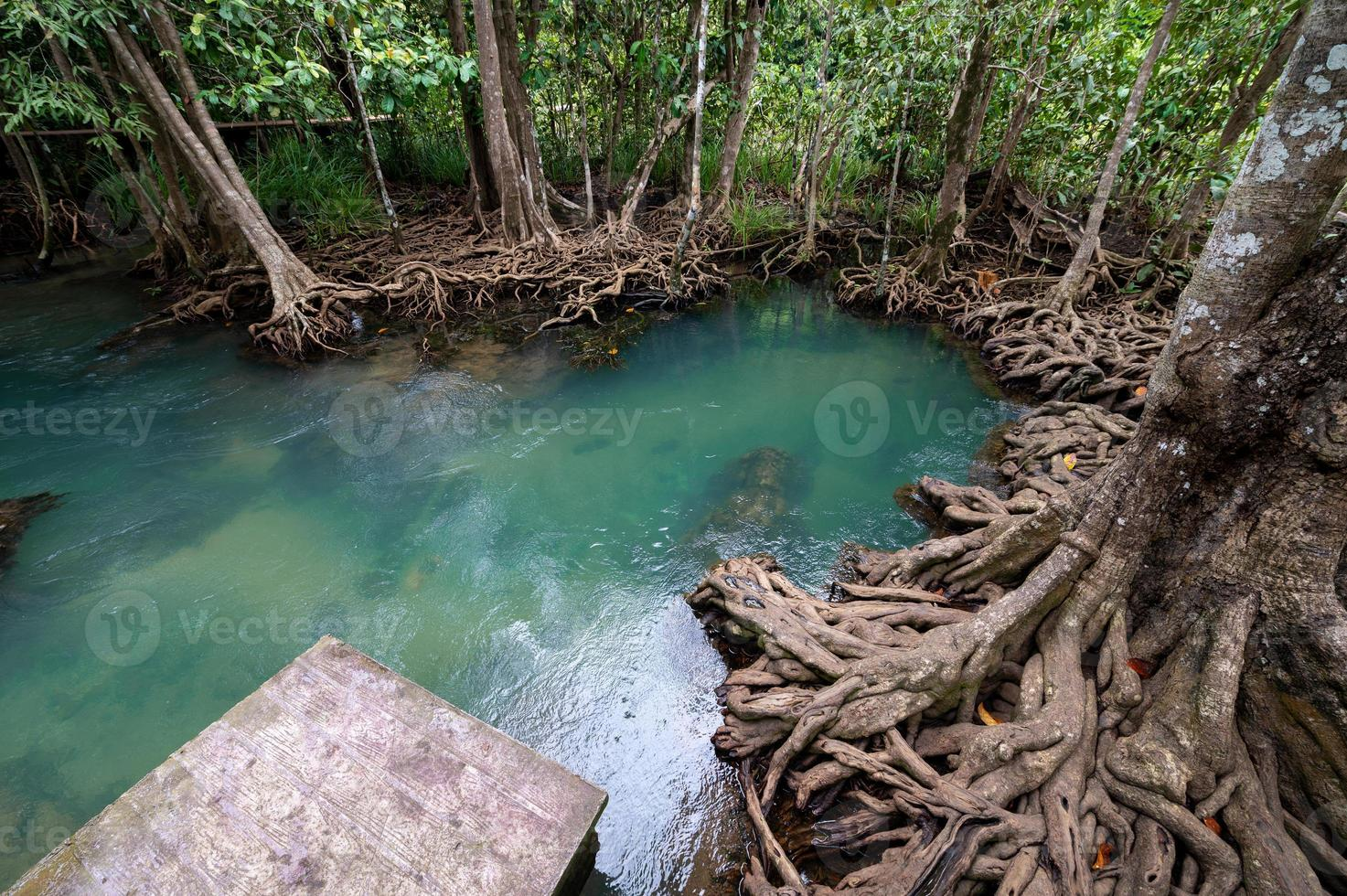 bela piscina azul na tailândia foto