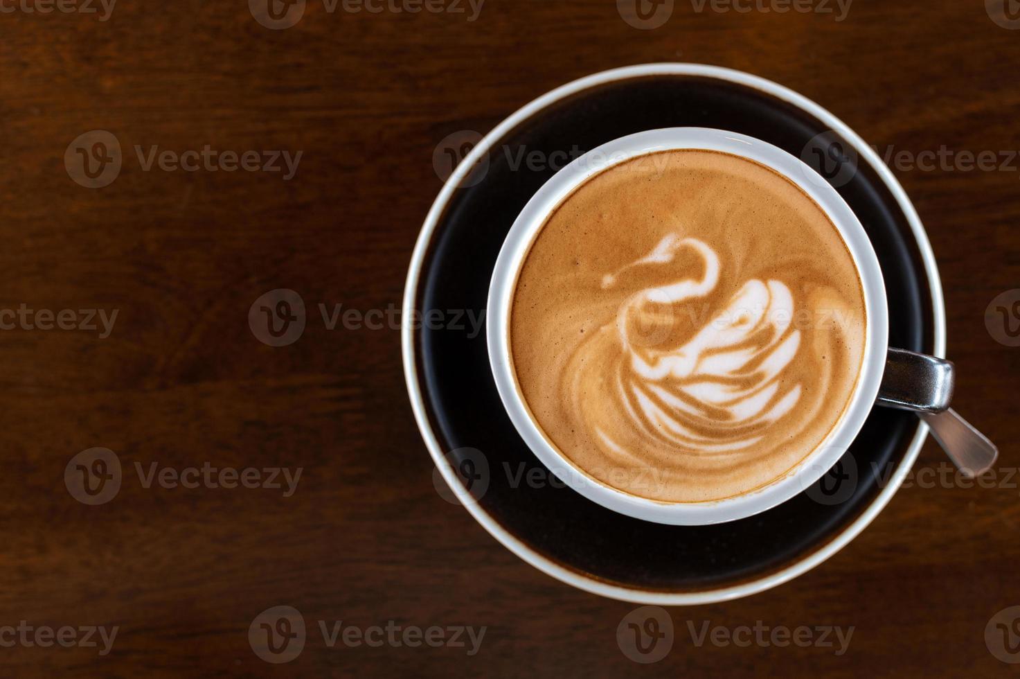 café latte art foto