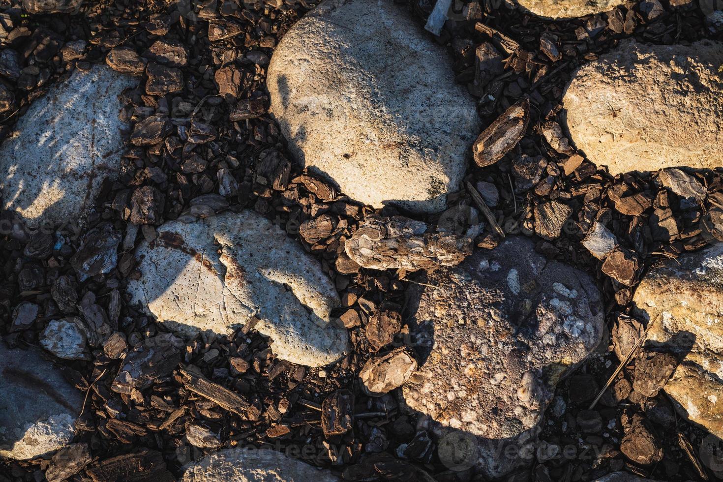 pedras e cortiça foto