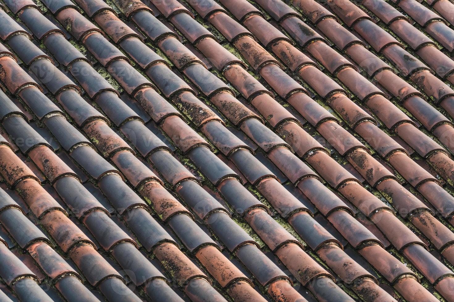 telhado de terracota tradicional foto