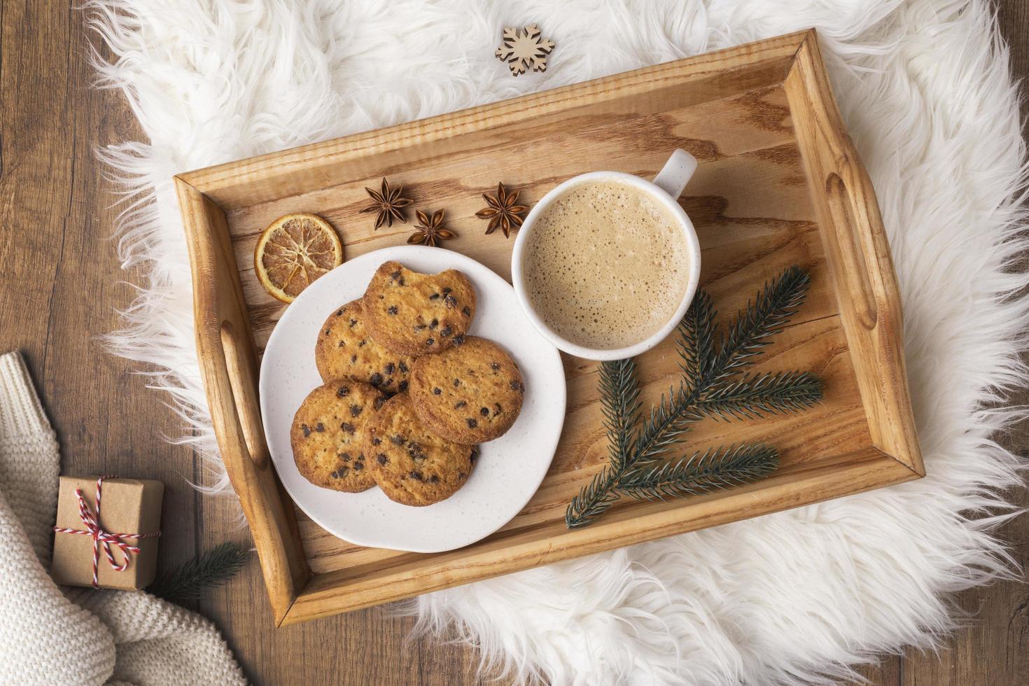 café e biscoitos foto