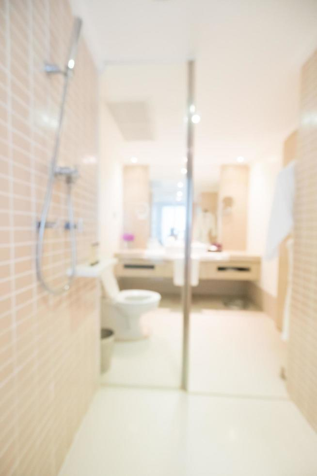 fundo desfocado abstrato do banheiro e do vaso sanitário foto