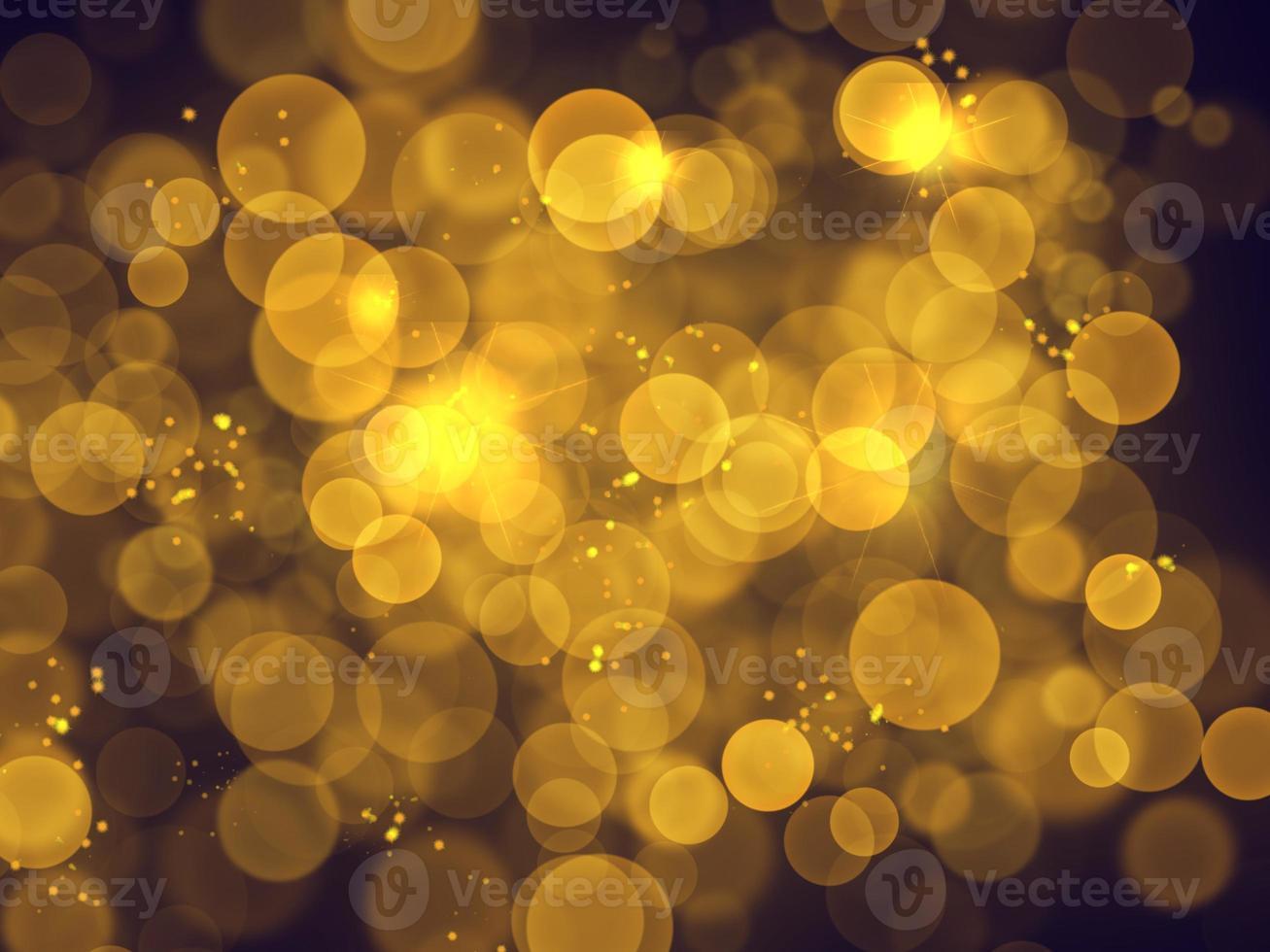 bolas douradas de bokeh fora de foco foto