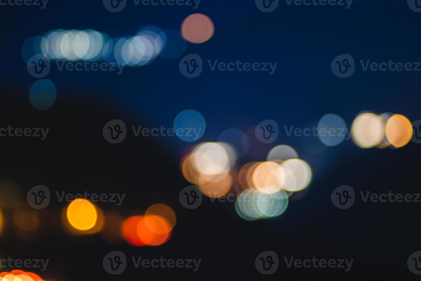 círculos coloridos e fundo desfocado foto