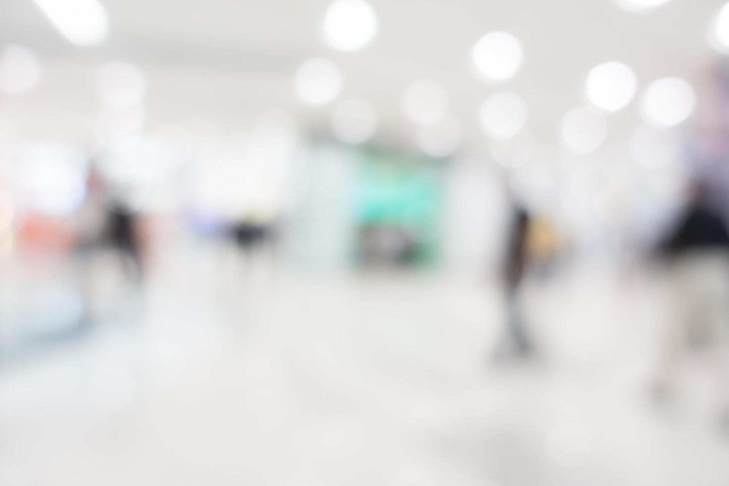 borrão abstrato shopping center foto