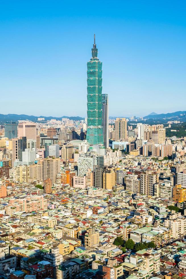 vista da cidade de taipei em taiwan foto