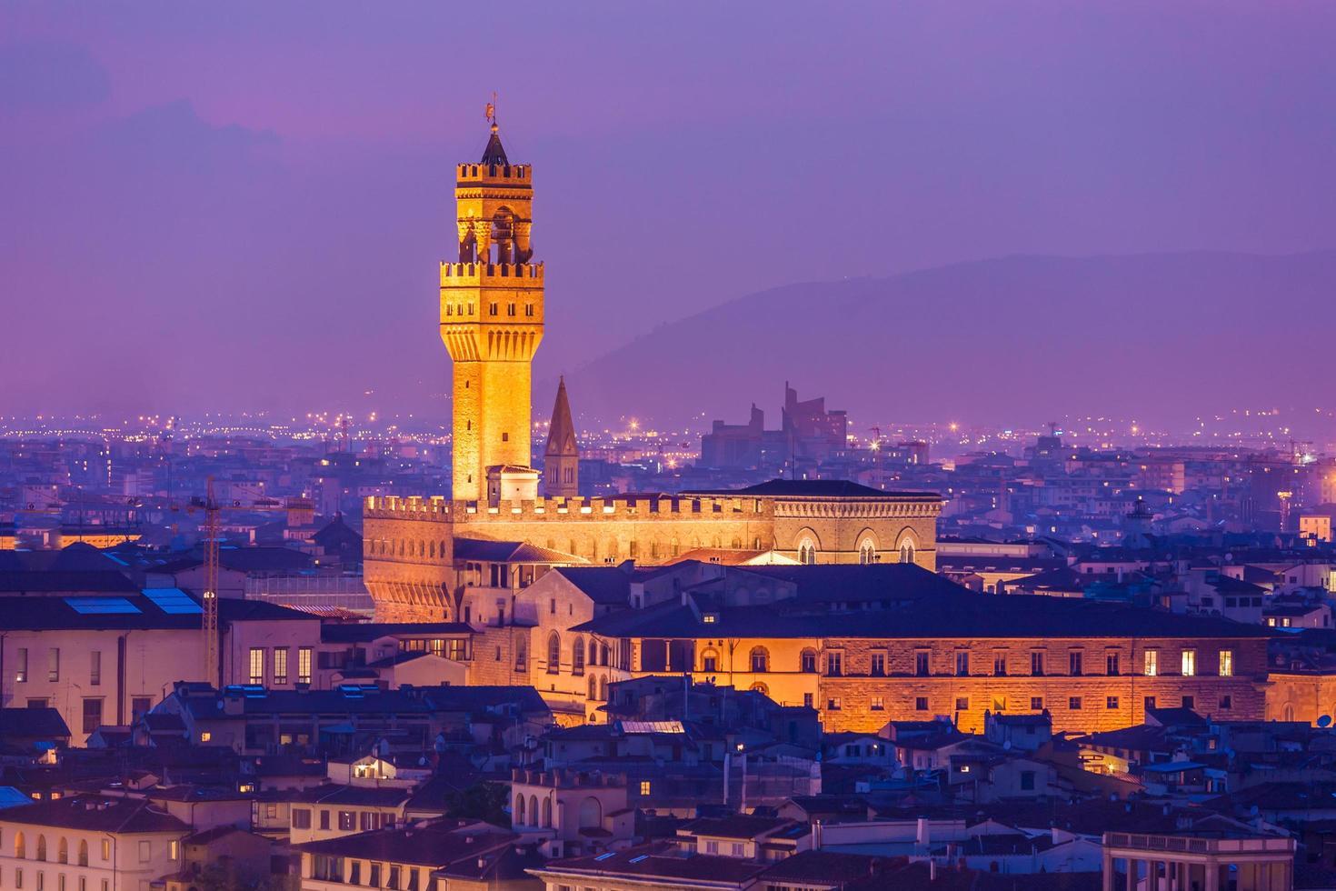 palácio vecchio em florença foto