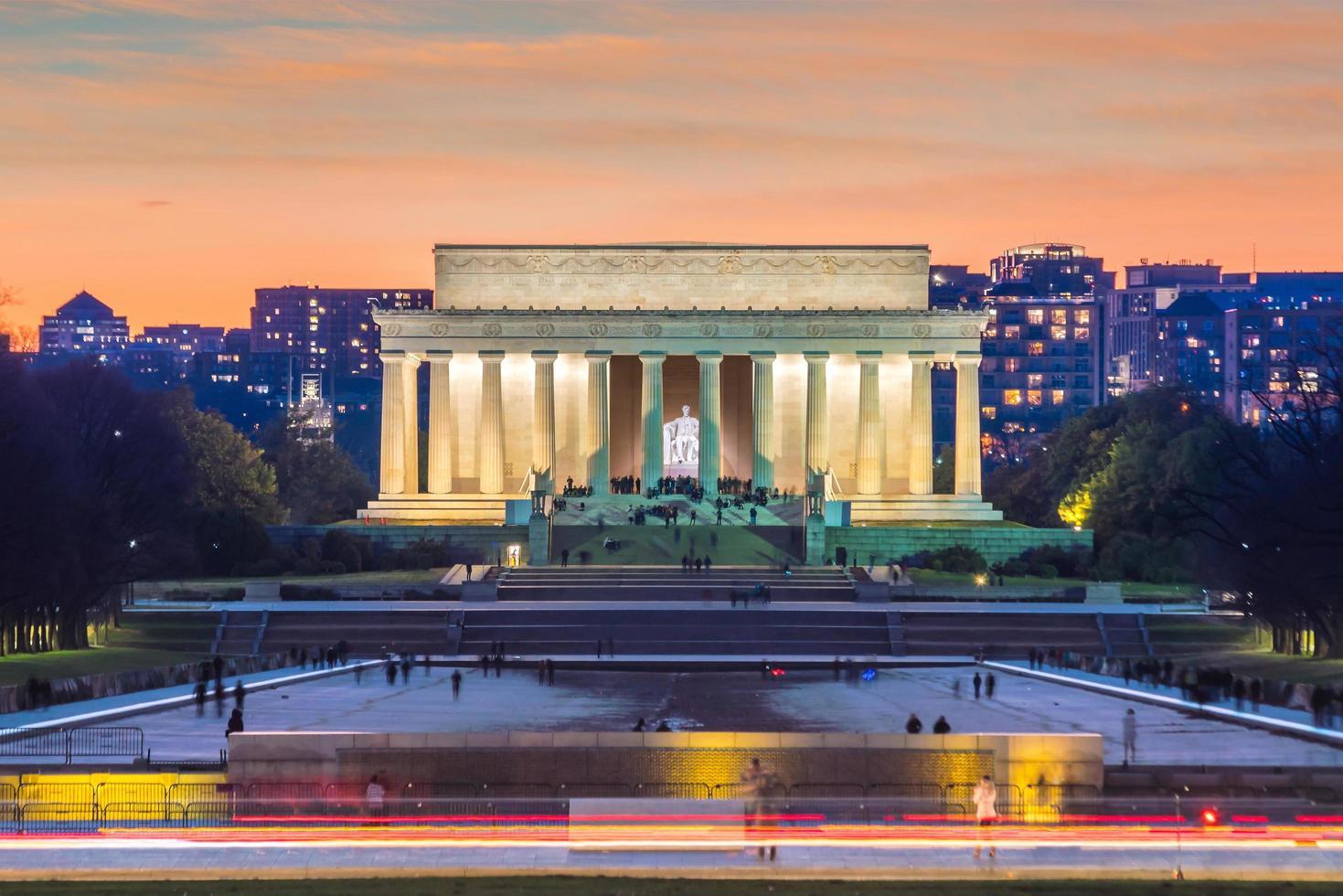 abraham lincoln memorial em washington, dc estados unidos foto