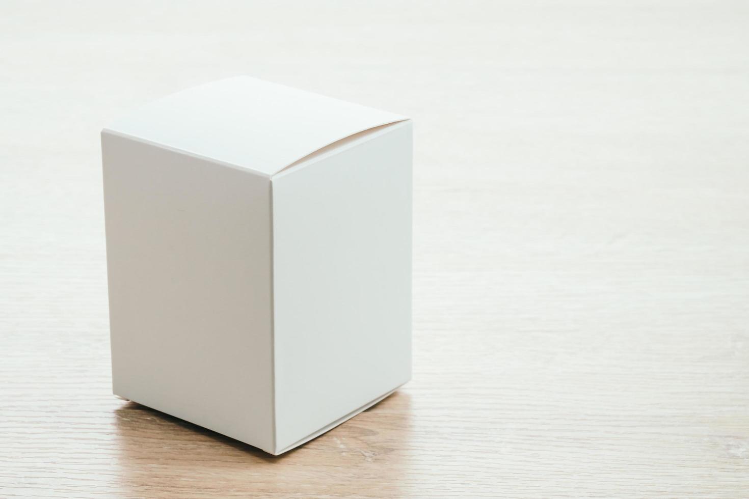 simulação de caixa de papel foto