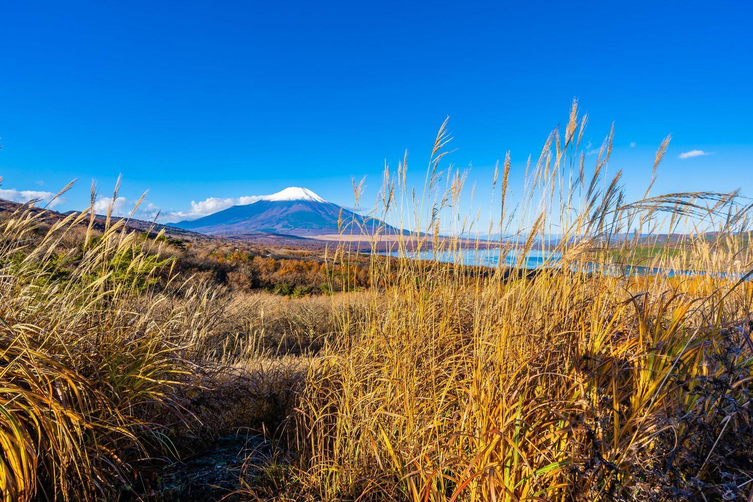 linda mt. fuji no lago yamanaka, japão foto