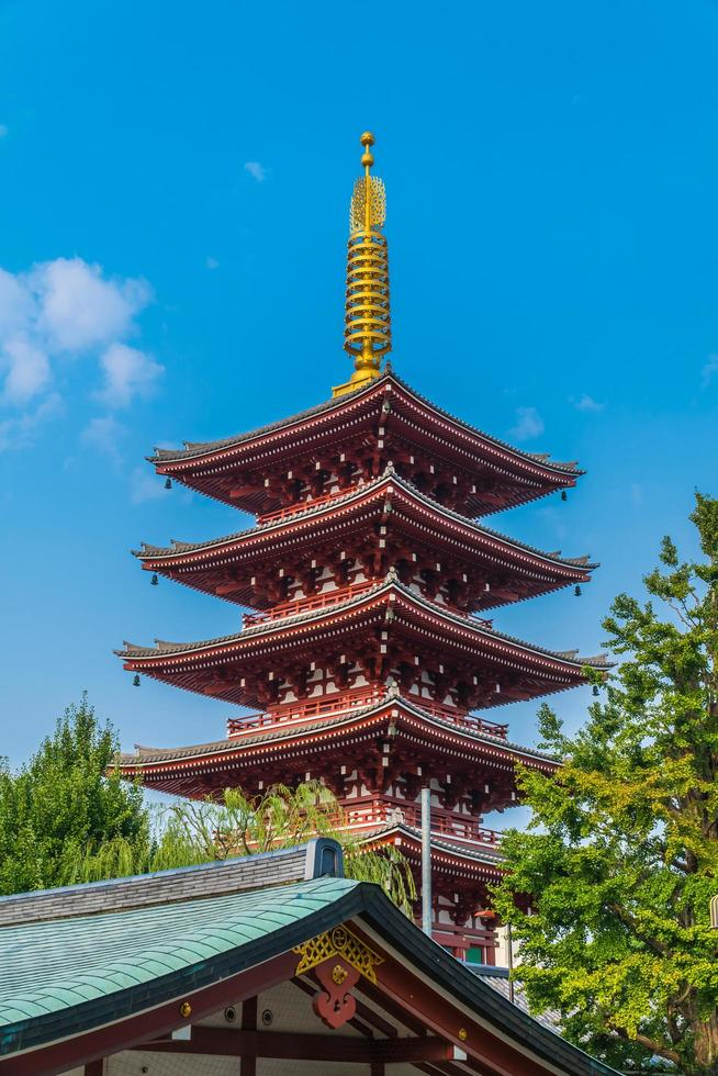 templo sensoji na área de Asakusa de Tóquio, Japão foto