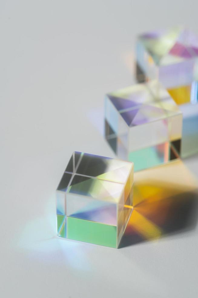 prismas de luz coloridos foto