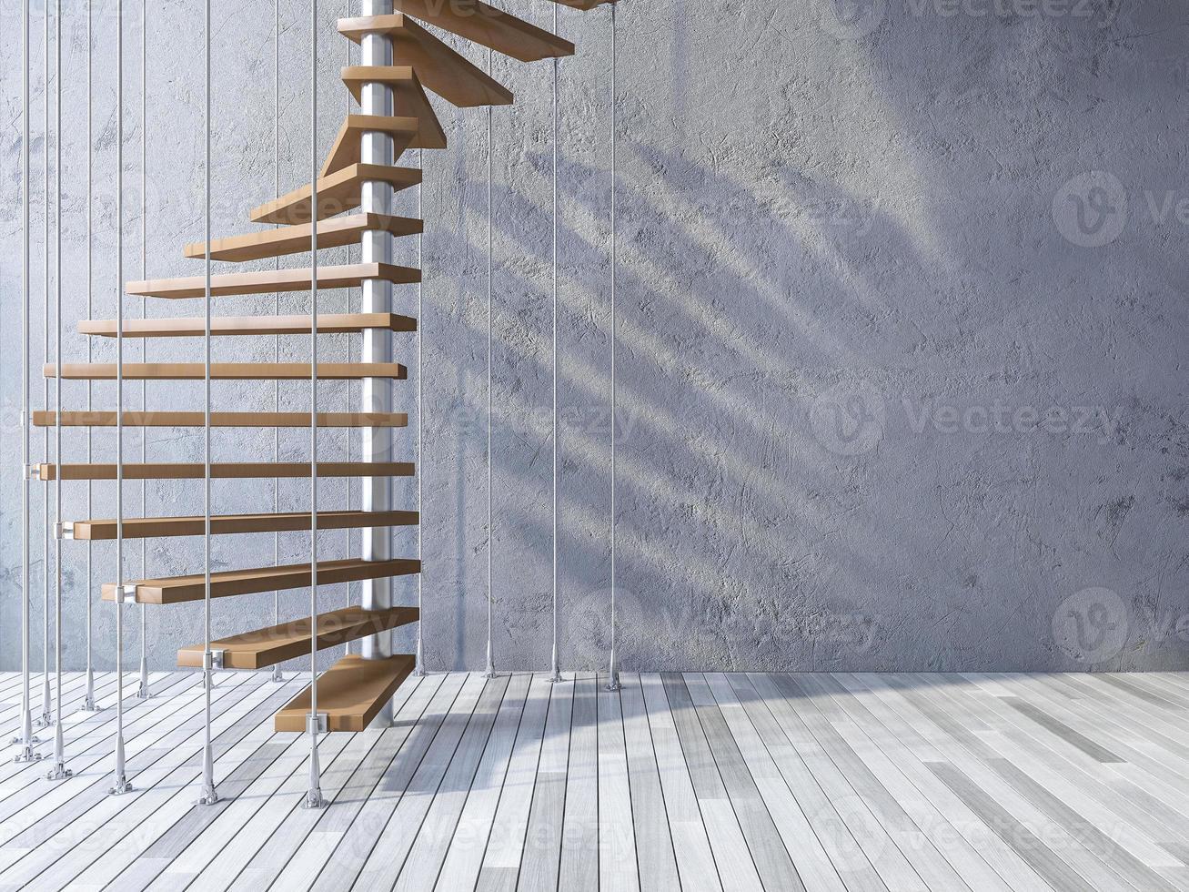 Escada 3D pendurada por cabos foto