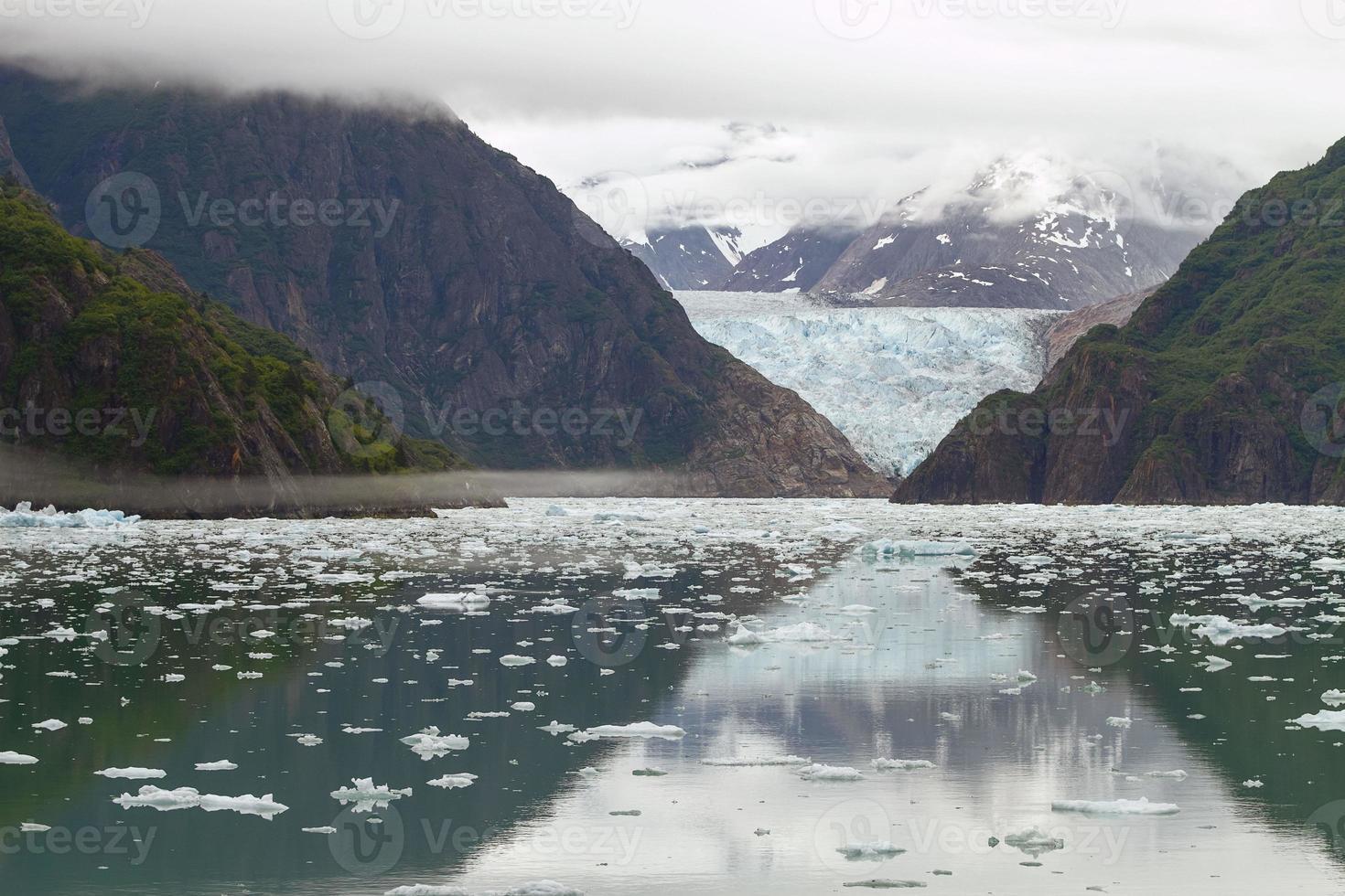 tracy arm fjord e Sawyer glacier Alaska foto
