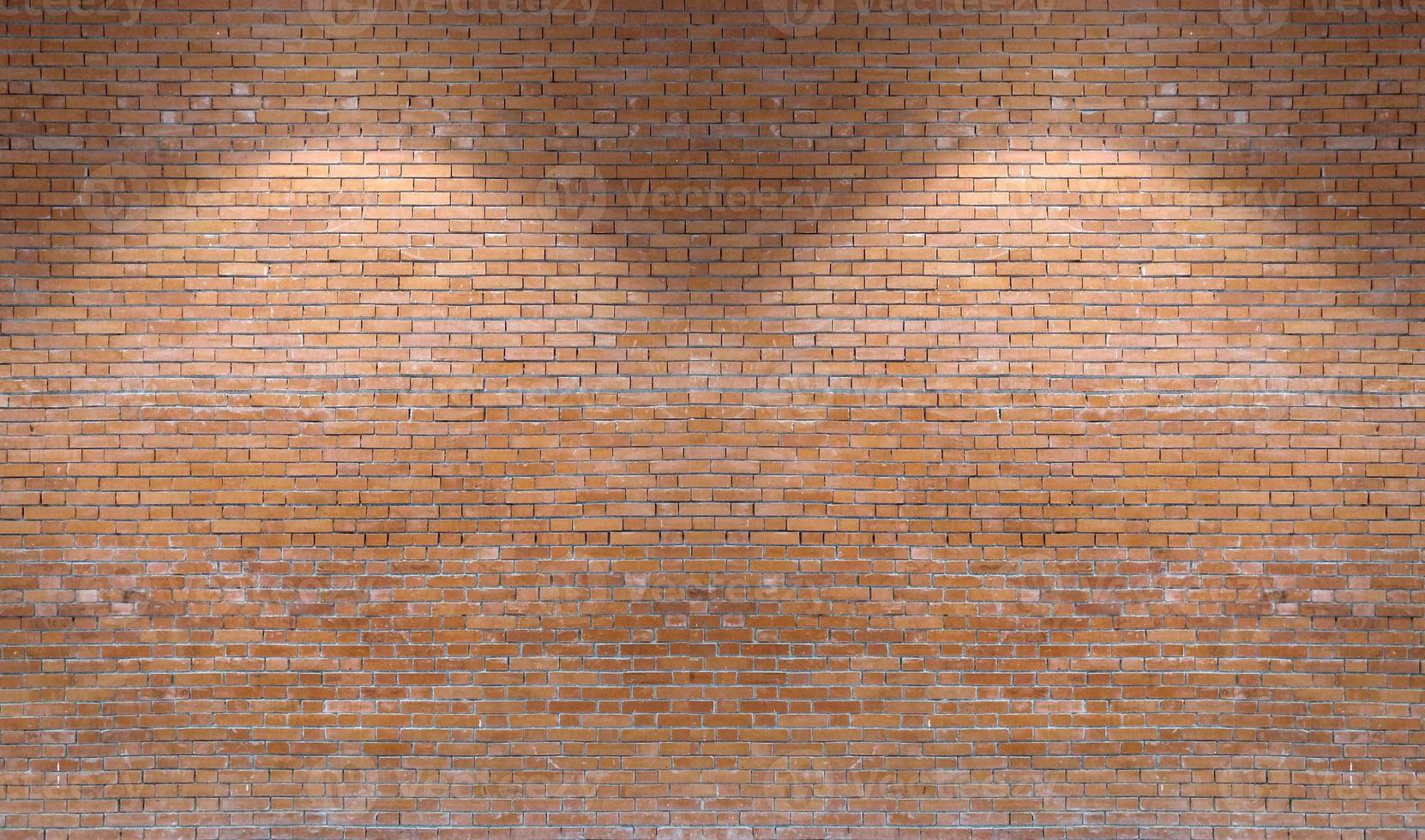 parede de tijolo marrom padrão de fundo com downlight foto