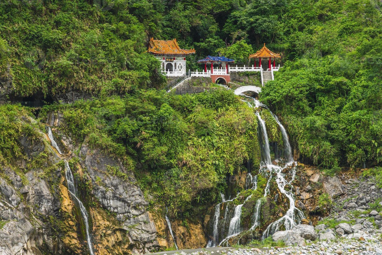 cenário de taroko no santuário da primavera eterna em hualien, taiwan foto