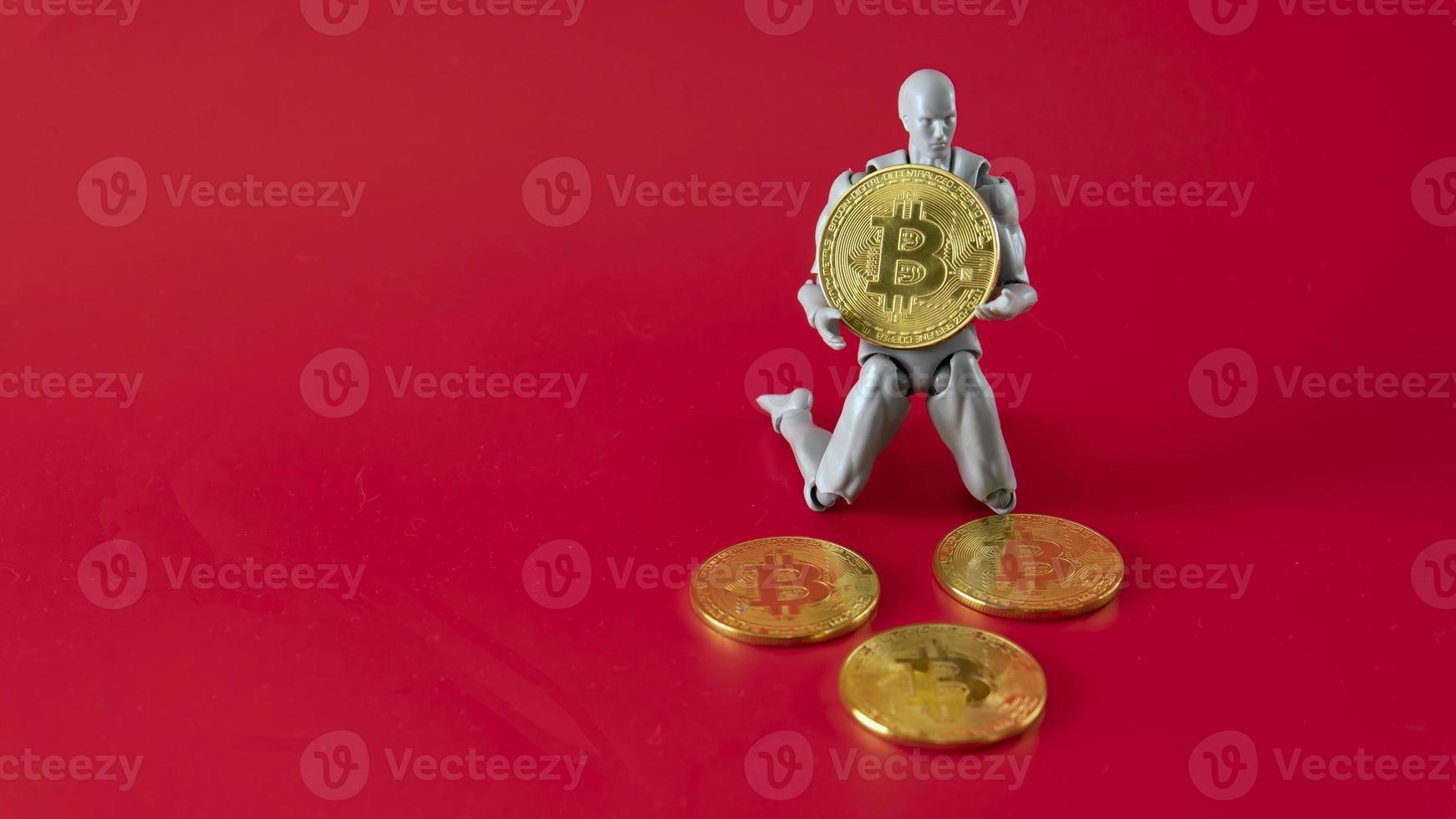 criptomoeda bitcoin. moeda digital do futuro foto