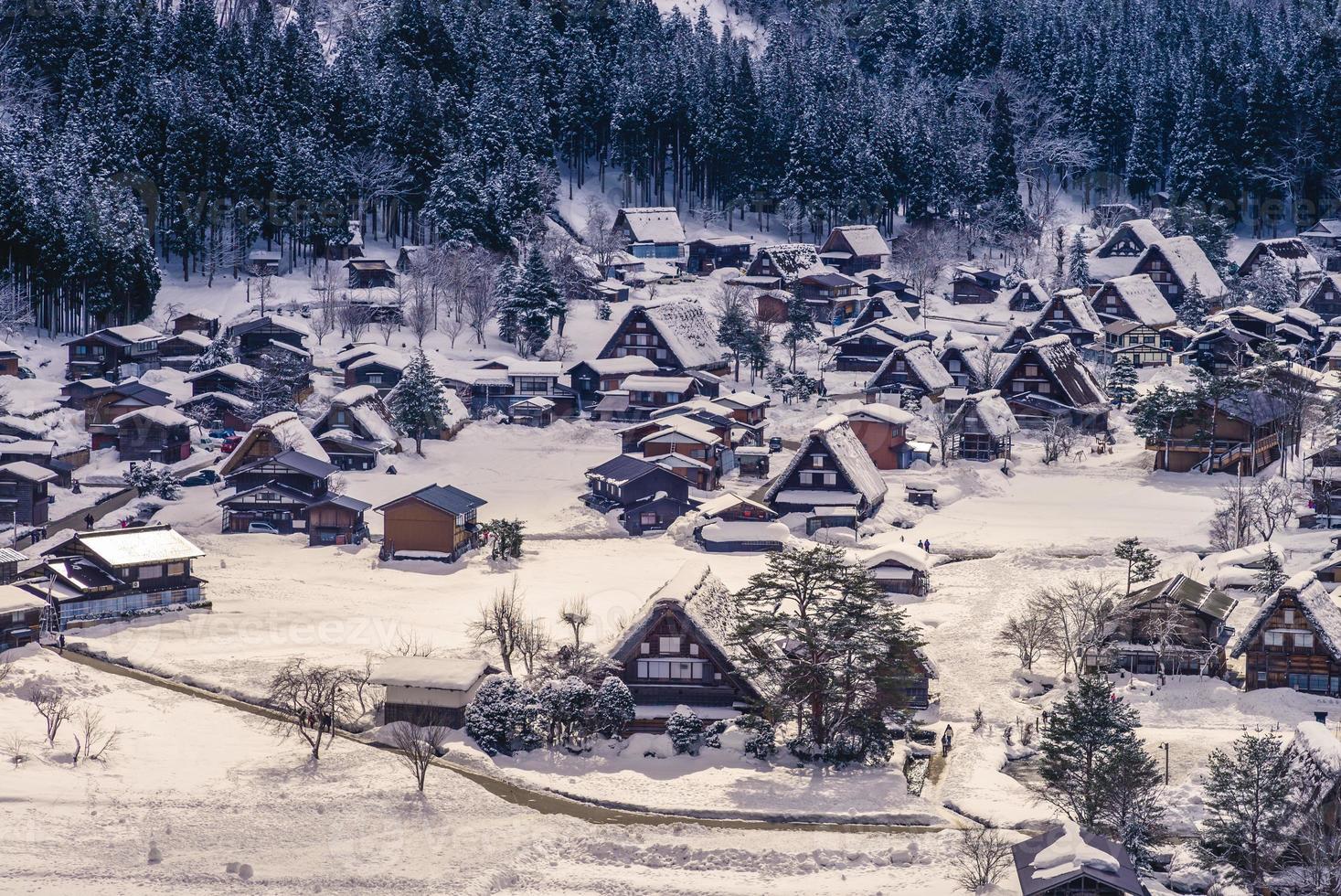 aldeia ogimachi em shirakawa, gifu no japão foto