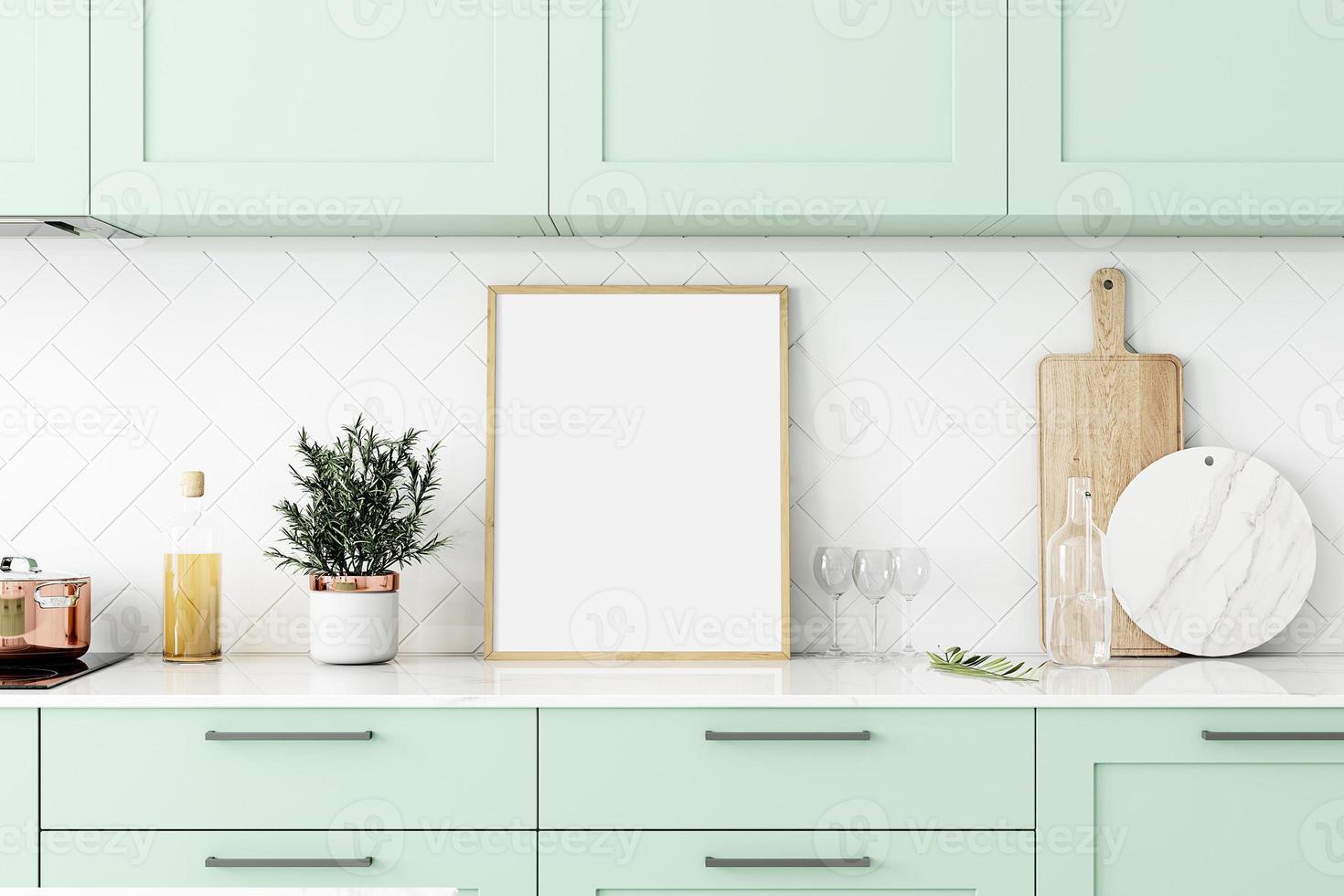 maquete de moldura de cozinha foto