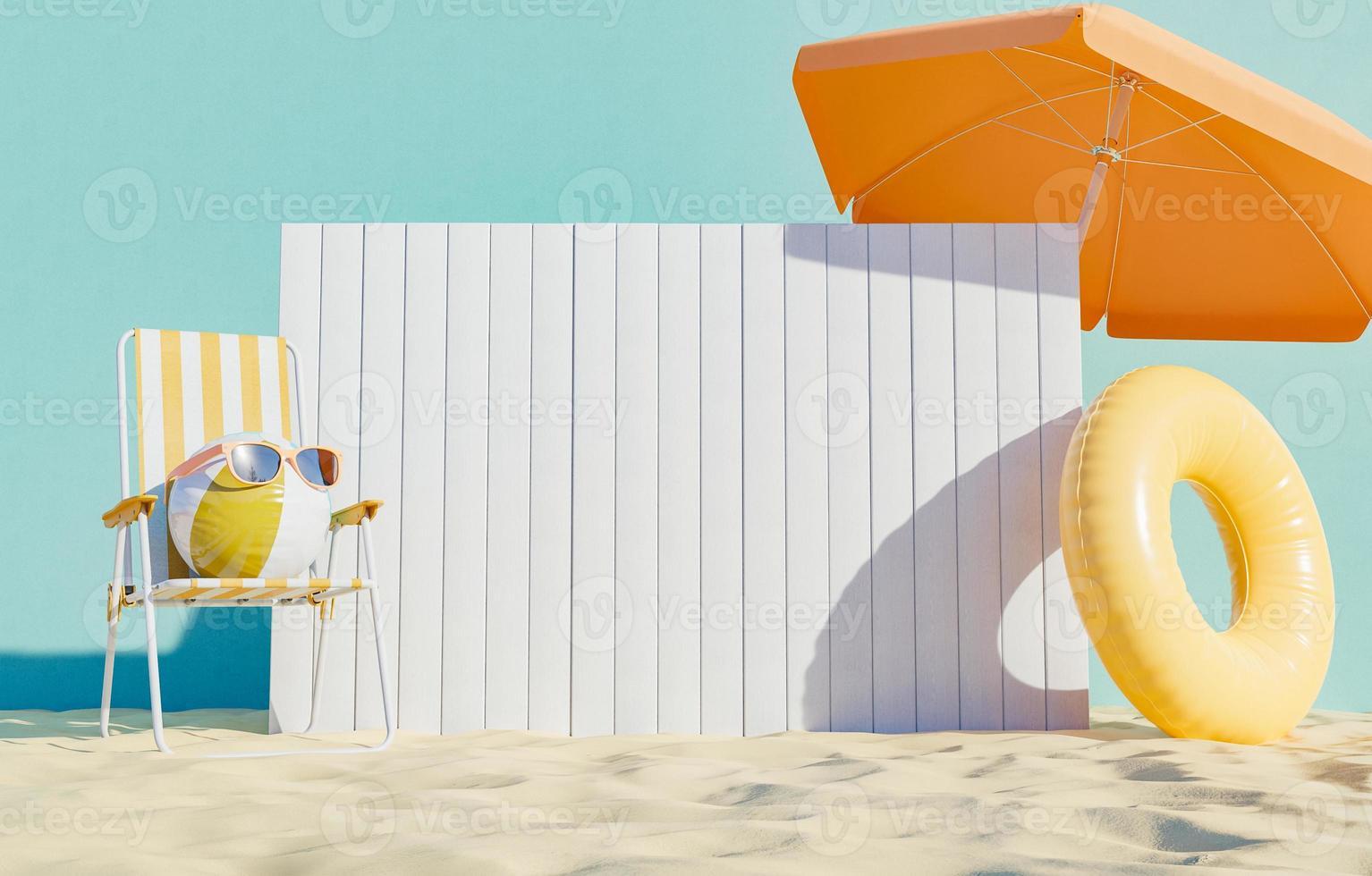 quadro indicador na praia foto