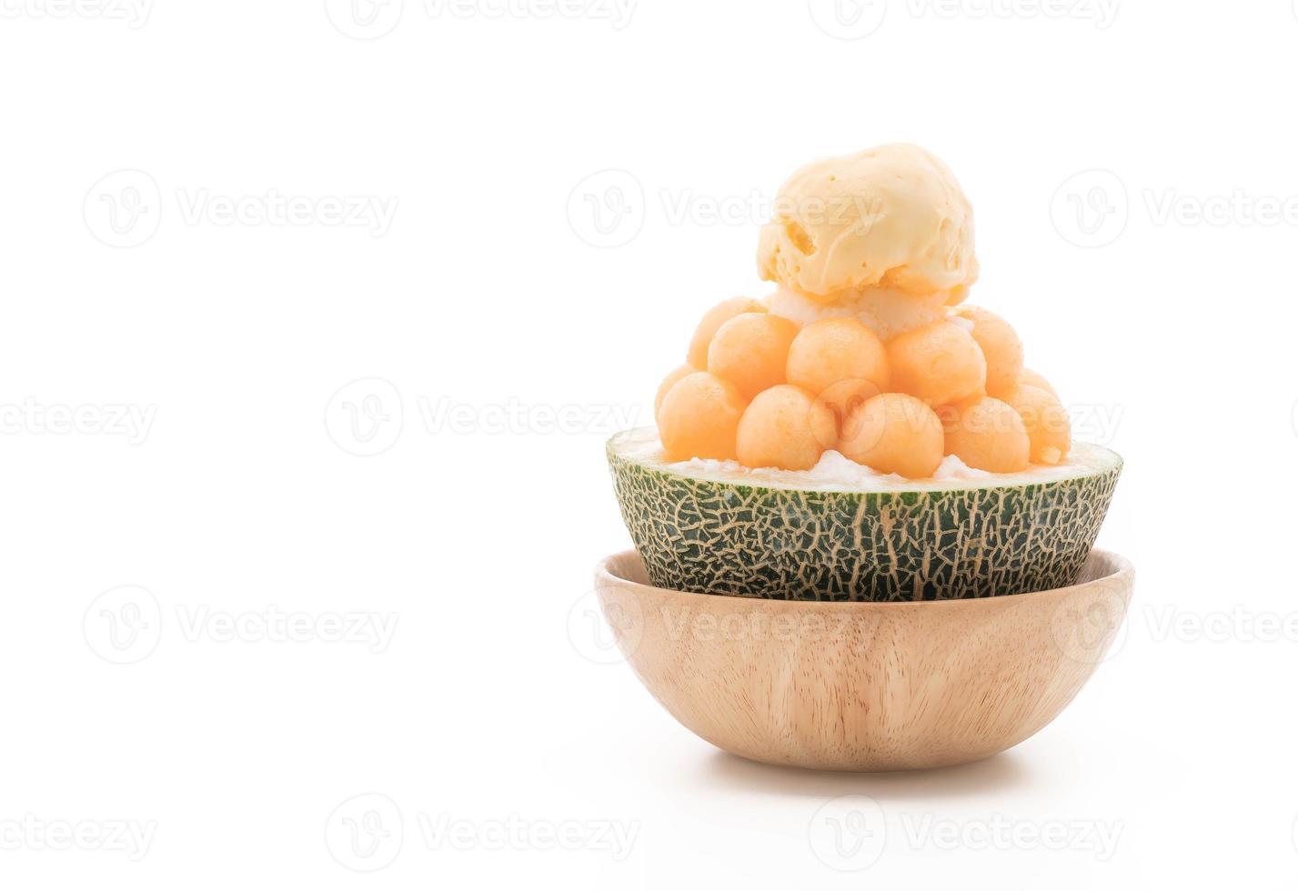 bingsu de melão de gelo, famoso sorvete coreano foto